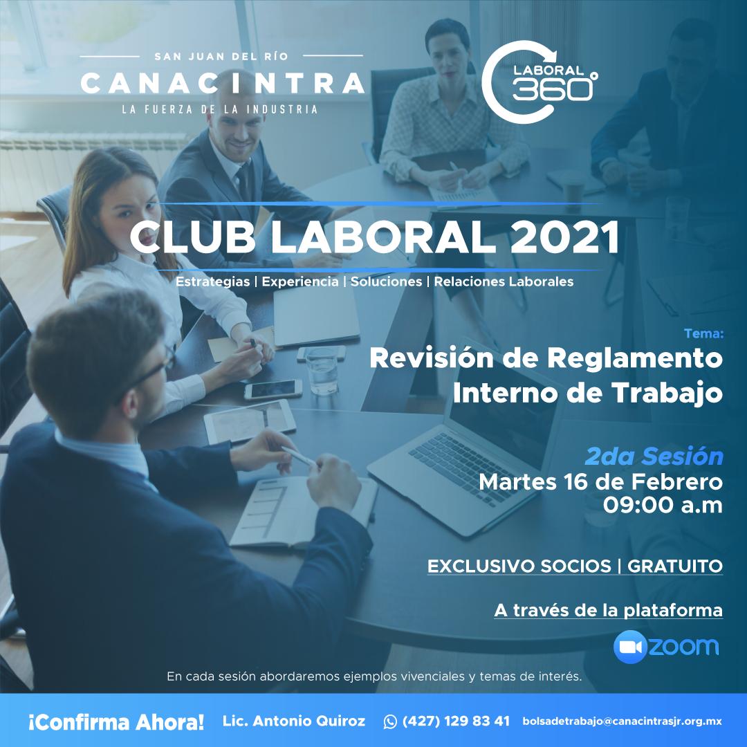 2da Sesión Club Laboral 2021