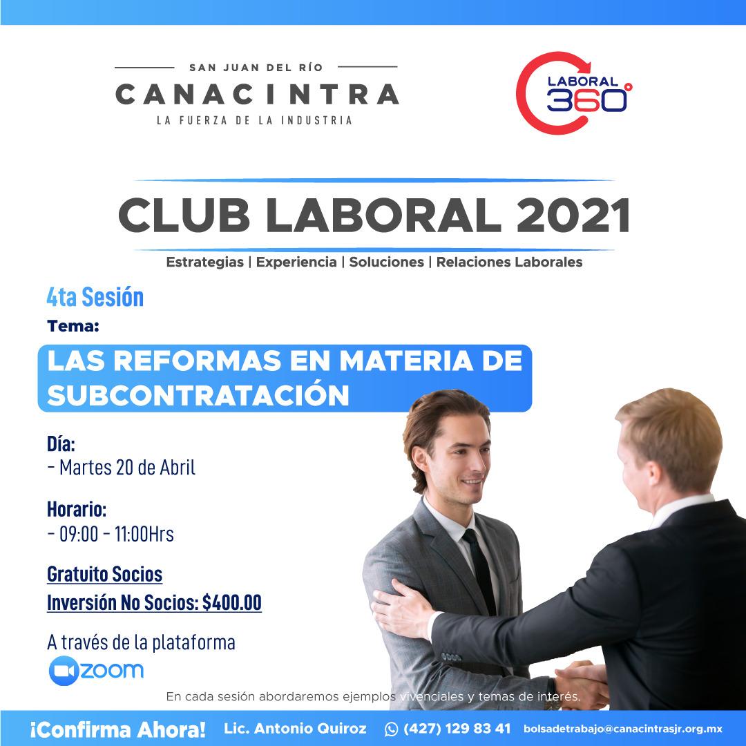 4ta Sesión Club Laboral 2021