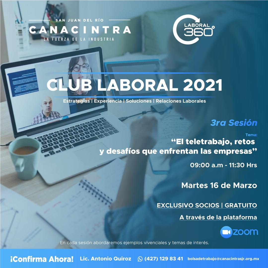 3era Sesión Club Laboral 2021